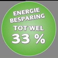 Energiebesparing tot wel 33%